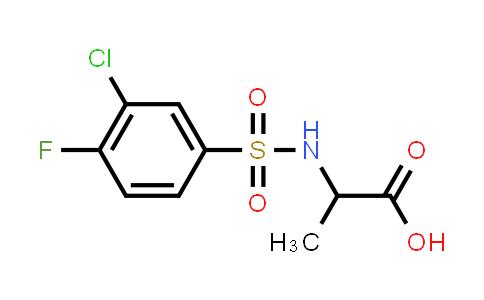 1009505-66-1 | 2-(3-Chloro-4-fluorobenzenesulfonamido)propanoic acid