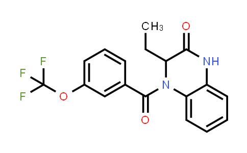 1009536-45-1   2(1H)-Quinoxalinone, 3-ethyl-3,4-dihydro-4-[3-(trifluoromethoxy)benzoyl]-