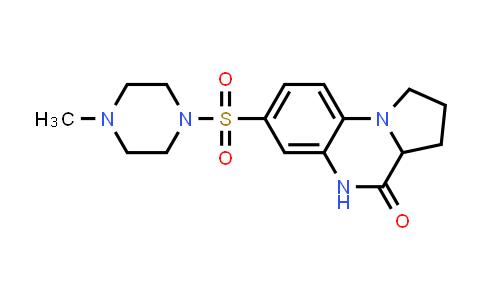 1009549-45-4 | Pyrrolo[1,2-a]quinoxalin-4(5H)-one, 1,2,3,3a-tetrahydro-7-[(4-methyl-1-piperazinyl)sulfonyl]-