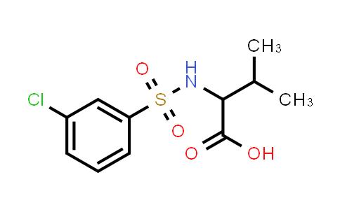 1009549-57-8 | 2-(3-chlorobenzenesulfonamido)-3-methylbutanoic acid
