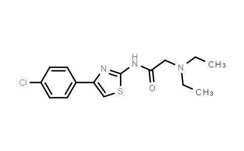 100956-98-7 | Acetamide, N-[4-(4-chlorophenyl)-2-thiazolyl]-2-(diethylamino)-