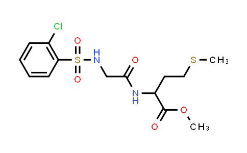 1009595-32-7 | Methyl 2-[(2-{[(2-chlorophenyl)sulfonyl]amino}acetyl)amino]-4-(methylsulfanyl)butanoate