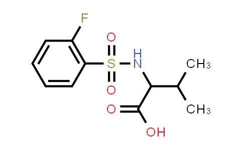 1009676-99-6 | 2-(2-Fluorobenzenesulfonamido)-3-methylbutanoic acid