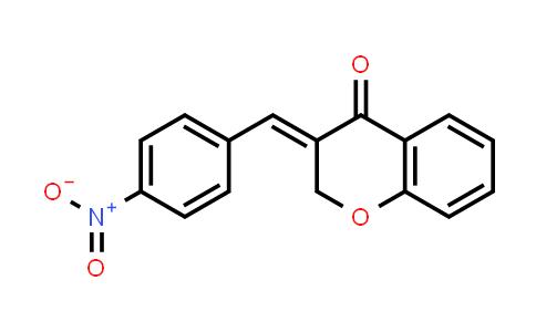 101001-06-3   4H-1-Benzopyran-4-one, 2,3-dihydro-3-[(4-nitrophenyl)methylene]-, (3E)-