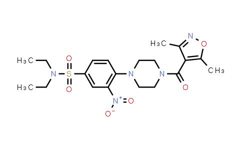 1010035-29-6 | Benzenesulfonamide, 4-[4-[(3,5-dimethyl-4-isoxazolyl)carbonyl]-1-piperazinyl]-N,N-diethyl-3-nitro-