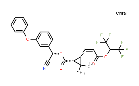 101007-06-1 | (S)-cyano(3-phenoxyphenyl)methyl (1R,3S)-3-((Z)-3-((1,1,1,3,3,3-hexafluoropropan-2-yl)oxy)-3-oxoprop-1-en-1-yl)-2,2-dimethylcyclopropane-1-carboxylate