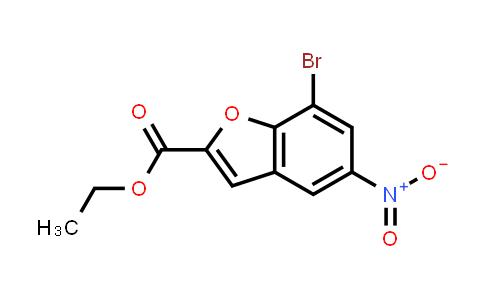 1010072-35-1   2-Benzofurancarboxylic acid, 7-bromo-5-nitro-, ethyl ester