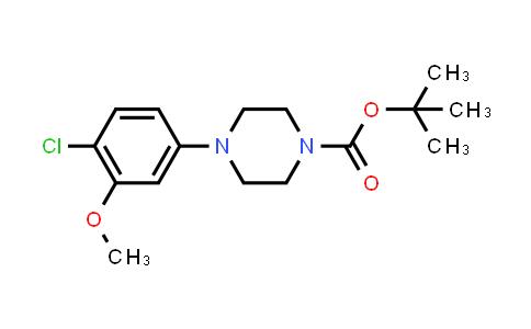 1010073-85-4 | tert-Butyl 4-(4-chloro-3-methoxyphenyl)piperazine-1-carboxylate
