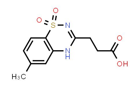 101063-96-1 | 3-(6-Methyl-1,1-dioxido-4h-1,2,4-benzothiadiazin-3-yl)propanoic acid