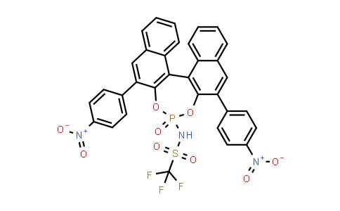 1010799-99-1 | N-((11bR)-2,6-Bis(4-nitrophenyl)-4-oxidodinaphtho[2,1-d:1',2'-f][1,3,2]dioxaphosphepin-4-yl)-1,1,1-trifluoromethanesulfonamide