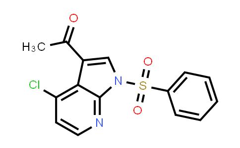 1011711-53-7 | Ethanone, 1-[4-chloro-1-(phenylsulfonyl)-1H-pyrrolo[2,3-b]pyridin-3-yl]-