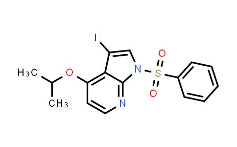 1011711-55-9 | 1H-Pyrrolo[2,3-b]pyridine, 3-iodo-4-(1-methylethoxy)-1-(phenylsulfonyl)-