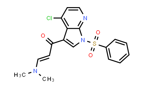 1011711-56-0   2-Propen-1-one, 1-[4-chloro-1-(phenylsulfonyl)-1H-pyrrolo[2,3-b]pyridin-3-yl]-3-(dimethylamino)-