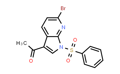 1011711-64-0 | Ethanone, 1-[6-bromo-1-(phenylsulfonyl)-1H-pyrrolo[2,3-b]pyridin-3-yl]-