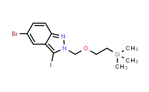1012104-27-6 | 5-Bromo-3-iodo-2-((2-(trimethylsilyl)ethoxy)methyl)-2H-indazole