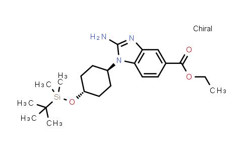 1012104-43-6   Ethyl 2-amino-1-[trans-4-[(tert-butyldimethylsilyl)oxy]cyclohexyl]-1H-benzo[d]imidazole-5-carboxylate