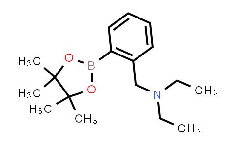 1012785-46-4 | Benzenemethanamine, N,N-diethyl-2-(4,4,5,5-tetramethyl-1,3,2-dioxaborolan-2-yl)-