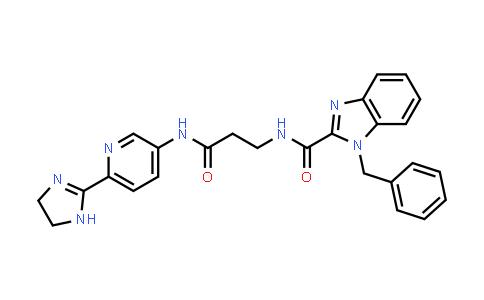 1013397-67-5 | 1H-Benzimidazole-2-carboxamide, N-[3-[[6-(4,5-dihydro-1H-imidazol-2-yl)-3-pyridinyl]amino]-3-oxopropyl]-1-(phenylmethyl)-
