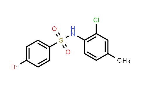 1013573-81-3 | 4-Bromo-N-(2-chloro-4-methylphenyl)benzenesulfonamide