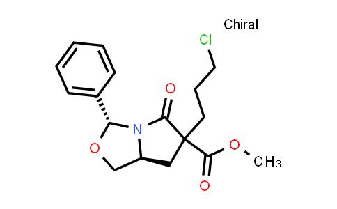 1013937-87-5 | 1H,3H-Pyrrolo[1,2-c]oxazole-6-carboxylic acid, 6-(3-chloropropyl)tetrahydro-5-oxo-3-phenyl-, methyl ester, (3R,7aS)-