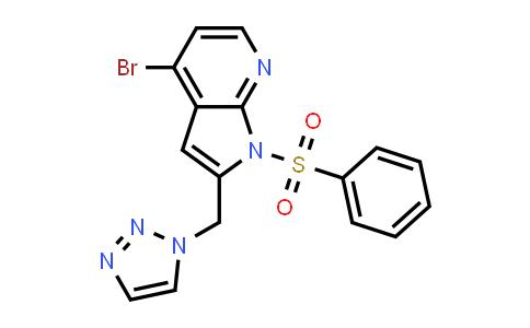 1014613-34-3 | 1H-Pyrrolo[2,3-b]pyridine, 4-bromo-1-(phenylsulfonyl)-2-(1H-1,2,3-triazol-1-ylmethyl)-