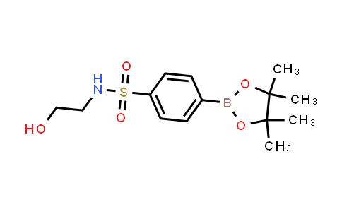 1014613-40-1 | N-(2-Hydroxyethyl)-4-(4,4,5,5-tetramethyl-1,3,2-dioxaborolan-2-yl)benzenesulfonamide