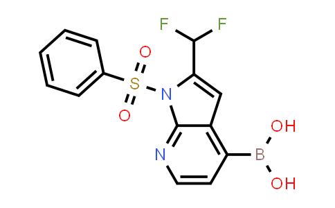 1014613-45-6 | Boronic acid, B-[2-(difluoromethyl)-1-(phenylsulfonyl)-1H-pyrrolo[2,3-b]pyridin-4-yl]-
