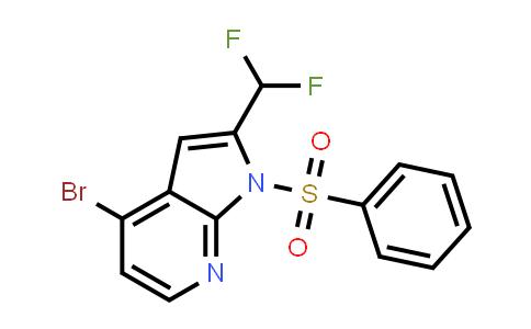 1014613-65-0 | 1H-Pyrrolo[2,3-b]pyridine, 4-bromo-2-(difluoromethyl)-1-(phenylsulfonyl)-