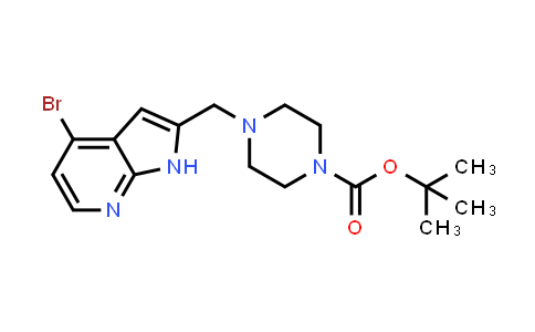 1014613-91-2 | 1-Piperazinecarboxylic acid, 4-[(4-bromo-1H-pyrrolo[2,3-b]pyridin-2-yl)methyl]-, 1,1-dimethylethyl ester