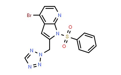 MC501864 | 1014614-19-7 | 1H-Pyrrolo[2,3-b]pyridine, 4-bromo-1-(phenylsulfonyl)-2-(2H-tetrazol-2-ylmethyl)-