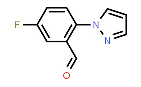 1015845-84-7 | Benzaldehyde, 5-fluoro-2-(1H-pyrazol-1-yl)-