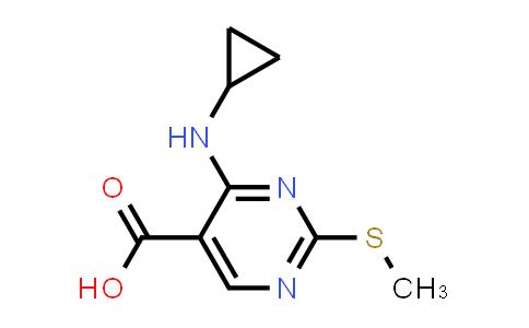 1015856-32-2 | 5-Pyrimidinecarboxylic acid, 4-(cyclopropylamino)-2-(methylthio)-