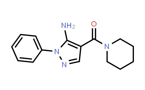 1015869-44-9 | 1-Phenyl-4-(1-piperidinylcarbonyl)-1h-pyrazol-5-amine