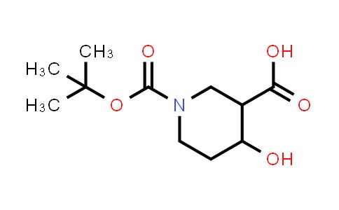 1015939-24-8 | 1-(tert-Butoxycarbonyl)-4-hydroxypiperidine-3-carboxylic acid