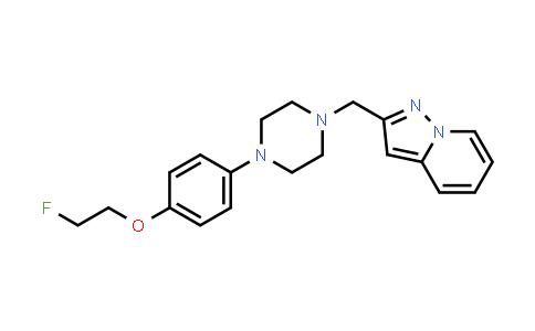 1016167-62-6   Pyrazolo[1,5-a]pyridine, 2-[[4-[4-(2-fluoroethoxy)phenyl]-1-piperazinyl]methyl]-