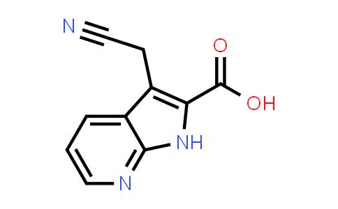 1016241-87-4 | 1H-Pyrrolo[2,3-b]pyridine-2-carboxylic acid, 3-(cyanomethyl)-