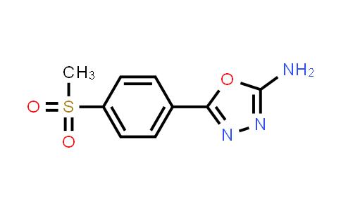 1016504-27-0 | 5-[4-(Methylsulfonyl)phenyl]-1,3,4-oxadiazol-2-amine