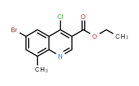 1016780-82-7   ethyl 6-bromo-4-chloro-8-methylquinoline-3-carboxylate