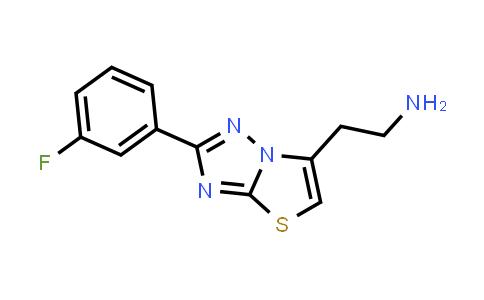 1017232-65-3 | 2-(2-(3-Fluorophenyl)thiazolo[3,2-b][1,2,4]triazol-6-yl)ethan-1-amine