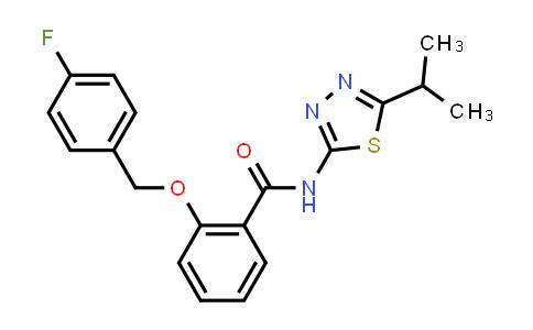 1017370-54-5 | 2-((4-fluorobenzyl)oxy)-N-(5-isopropyl-1,3,4-thiadiazol-2-yl)benzamide