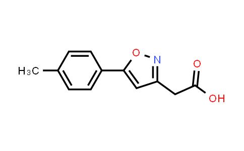 1018663-09-6   [5-(4-Methylphenyl)isoxazol-3-yl]acetic acid