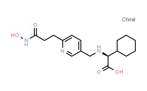 1018673-82-9   Cyclohexaneacetic acid, α-[[[6-[3-(hydroxyamino)-3-oxopropyl]-3-pyridinyl]methyl]amino]-, (αS)-