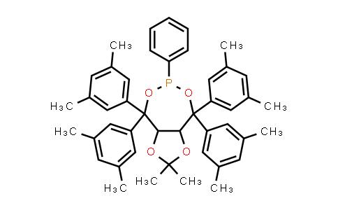 1019840-96-0 | (3aR,8aR)-4,4,8,8-Tetrakis(3,5-dimethylphenyl)tetrahydro-2,2-dimethyl-6-phenyl-1,3-dioxolo[4,5-e][1,32]dioxaphosphepin