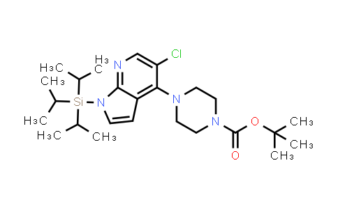 1020056-95-4 | tert-butyl 4-(5-chloro-1-(triisopropylsilyl)-1H-pyrrolo[2,3-b]pyridin-4-yl)piperazine-1-carboxylate