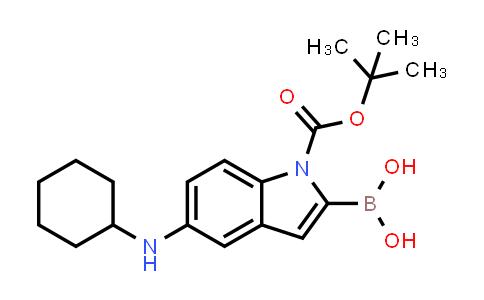 1021342-94-8 | 1H-Indole-1-carboxylic acid, 2-borono-5-(cyclohexylamino)-, 1-(1,1-dimethylethyl) ester