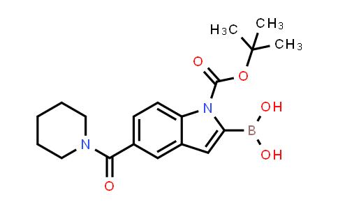 1021342-97-1 | 1H-Indole-1-carboxylic acid, 2-borono-5-(1-piperidinylcarbonyl)-, 1-(1,1-dimethylethyl) ester