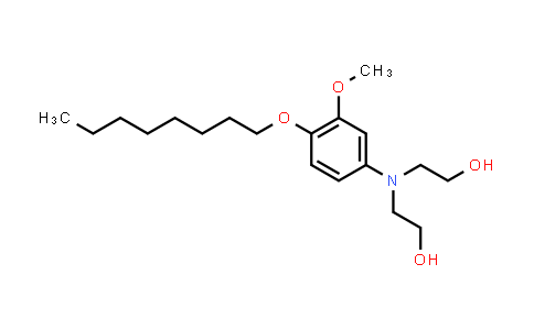 102179-55-5 | 2,2'-((3-Methoxy-4-(octyloxy)phenyl)azanediyl)bis(ethan-1-ol)