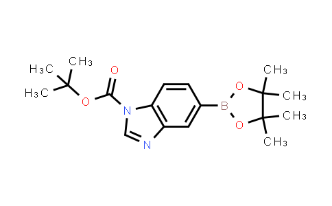 1021918-86-4 | tert-Butyl 5-(4,4,5,5-tetramethyl-1,3,2-dioxaborolan-2-yl)-1H-benzimidazole-1-carboxylate