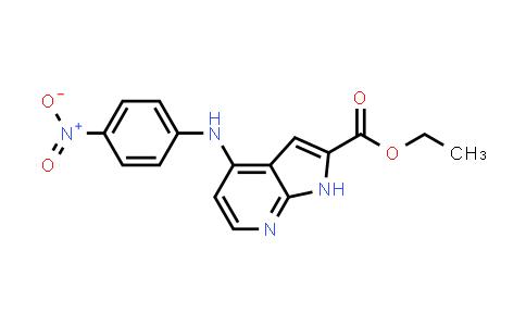 1021950-41-3 | 1H-Pyrrolo[2,3-b]pyridine-2-carboxylic acid, 4-[(4-nitrophenyl)amino]-, ethyl ester