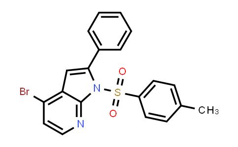 1021950-50-4 | 1H-Pyrrolo[2,3-b]pyridine, 4-bromo-1-[(4-methylphenyl)sulfonyl]-2-phenyl-